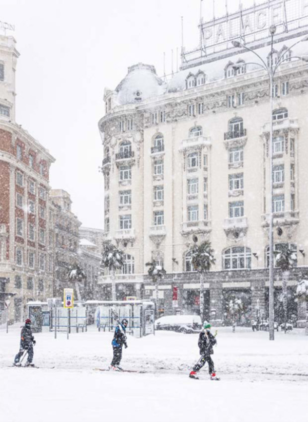Imágenes de Madrid Nevado por temporal Filomena
