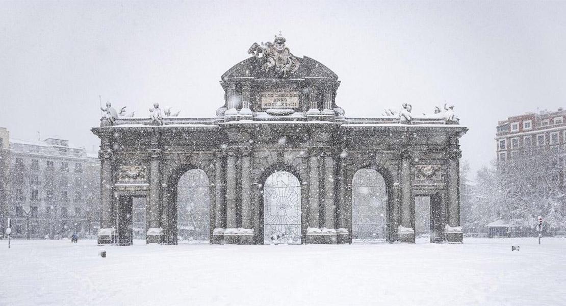 Imágenes de Madrid Nevado por Filomena
