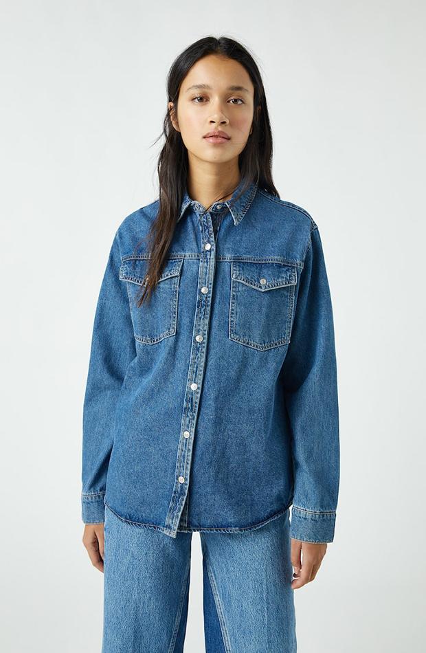 Camisa denim - Pull & Bear segundas rebajas de las marcas low cost