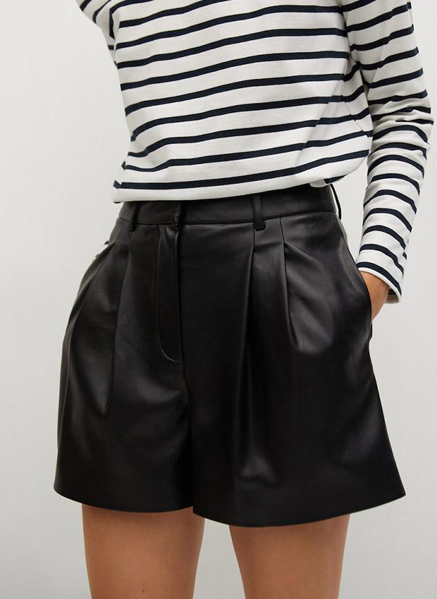 Shorts negros con cinturón