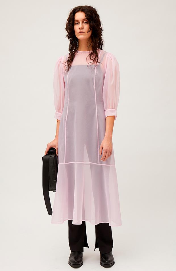 Vestido rosa de Weekday