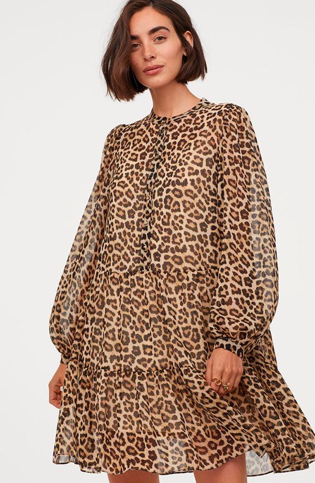Vestido de animal print de H&M