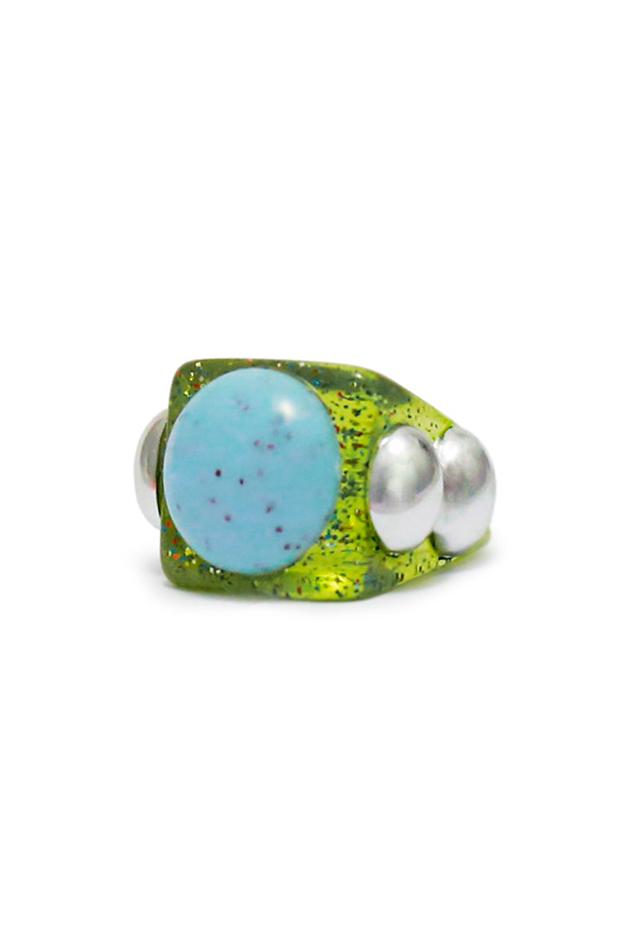 tendencias joyas Anillo de La Manso color verde