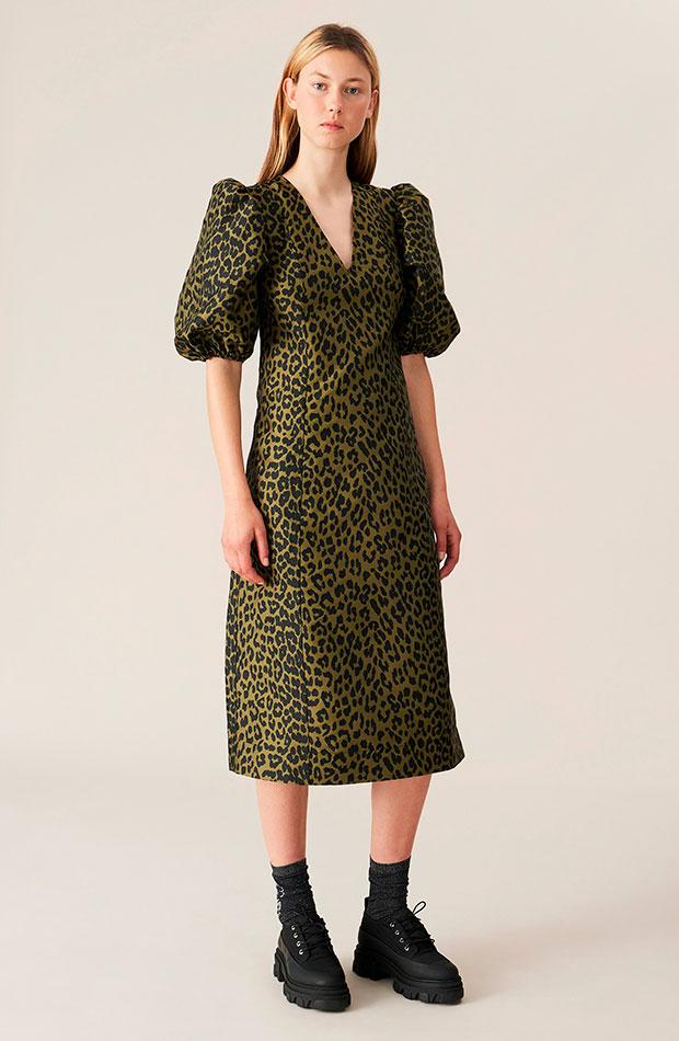Vestido leopardo de Ganni