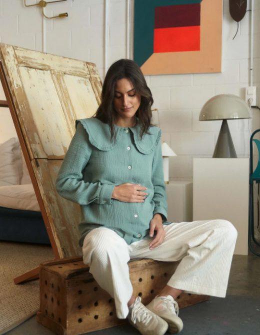 Camisa en bambula de embarazada de Bombü