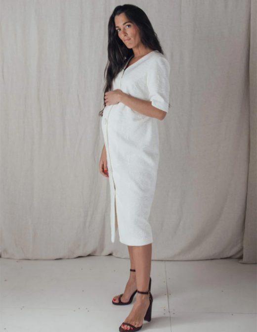 Vestido blanco de embarazada de Bombü
