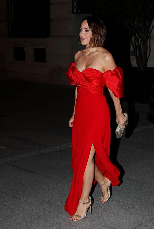 Tamara Falcó con vestido rojo