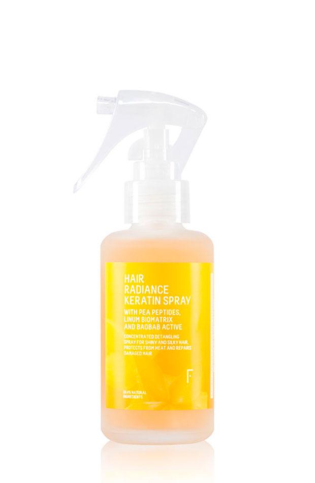 extra de brillo a tu pelo Hair Radiance Keratin Spray de Freshly Cosmetics