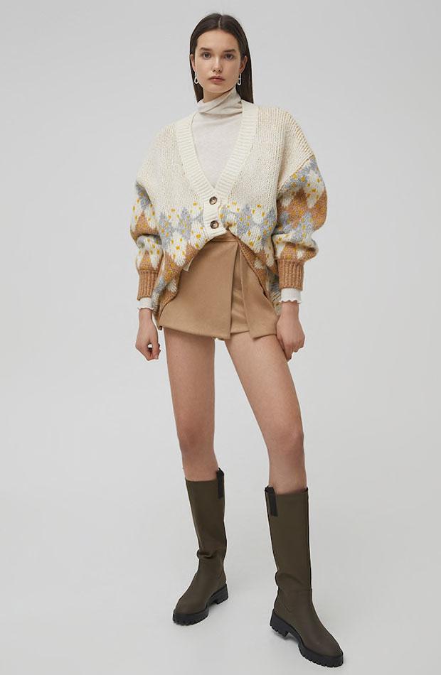 hot pants falda pantalón de antelina Pull & Bear