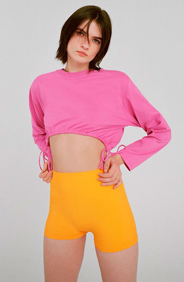 hot pants mallas naranjas zara