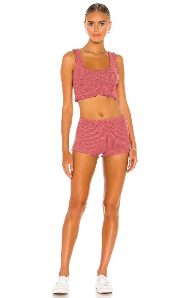 hot pants color rosa Indah