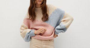 Los jerséis multicolor en tonos pastel son tendencia