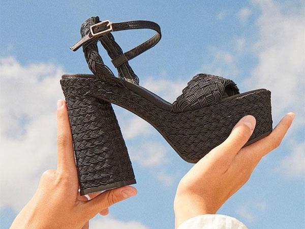 © Castañer zapato sandalia negro rafia