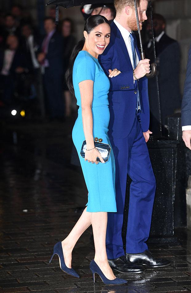 Meghan Markle vestido azul