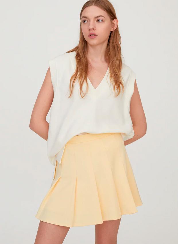 Minifalda de Pull & Bear amarilla