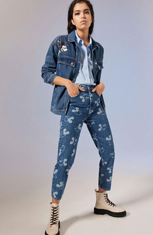 Pantalones vaqueros de Mickey Mouse Novedades de Lefties