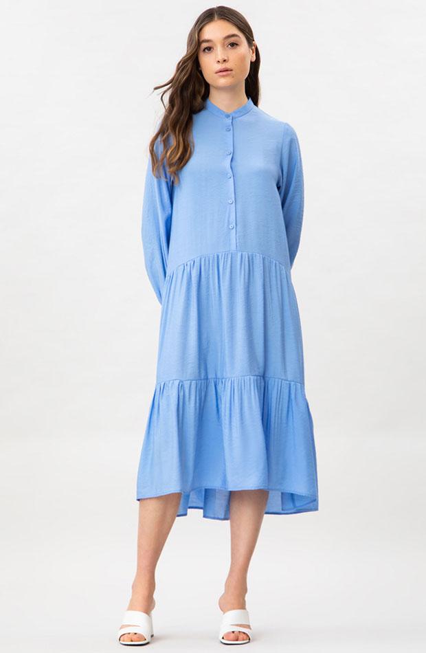 Novedades de Lefties Vestido midi azul