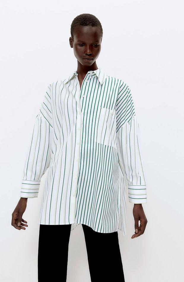 lo nuevo de Uterqüe Camisa de rayas oversize