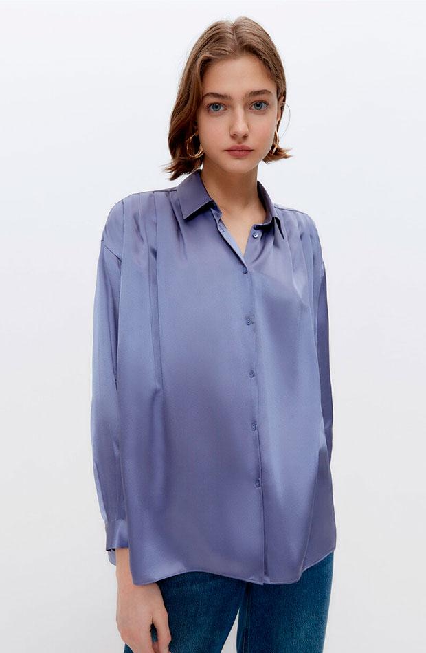 lo nuevo de Uterqüe Camisa lavanda de seda