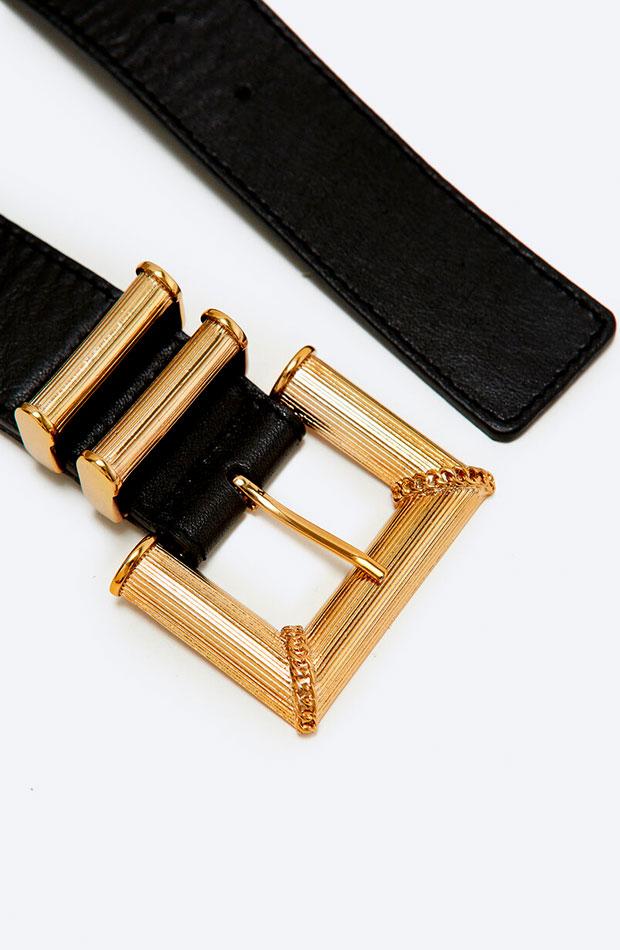 lo nuevo de Uterqüe Cinturón hebilla dorada