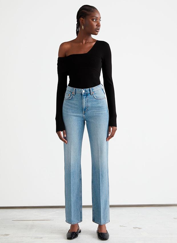 Jeans de cintura alta de las novedades de & Other Stories