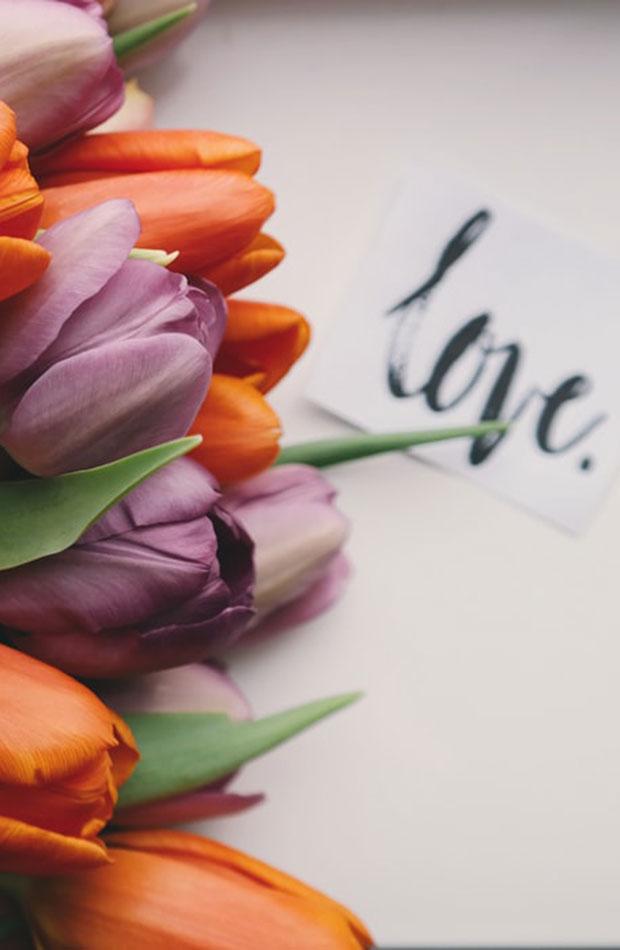 planes san Valentín en casa Notas y flores