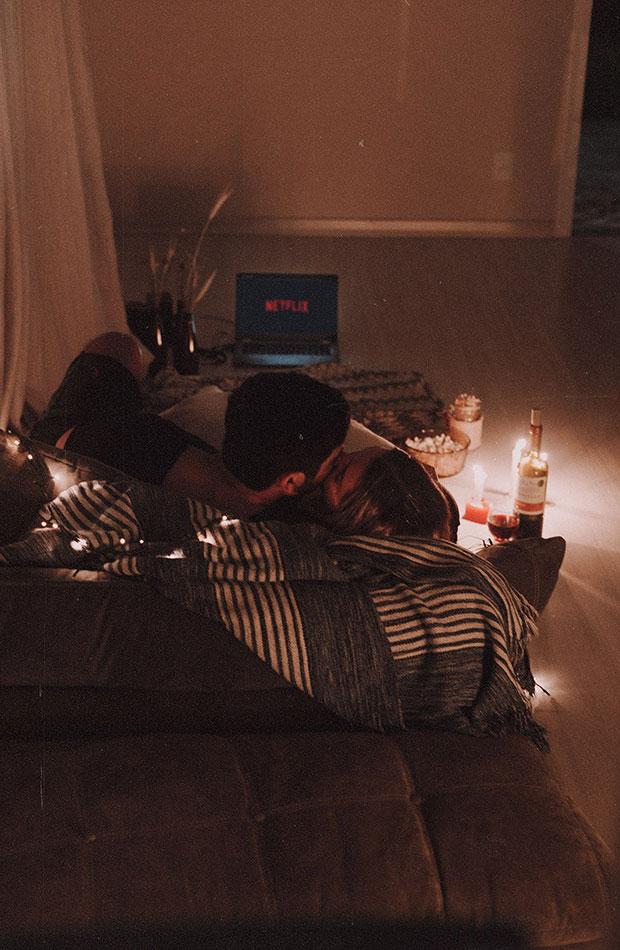 planes san Valentín en casa Sesión de cine