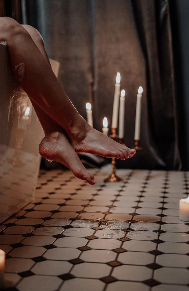 planes san Valentín en casa Sesión de spa