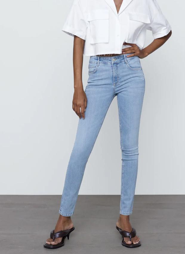 Jeans de tiro medio de Zara