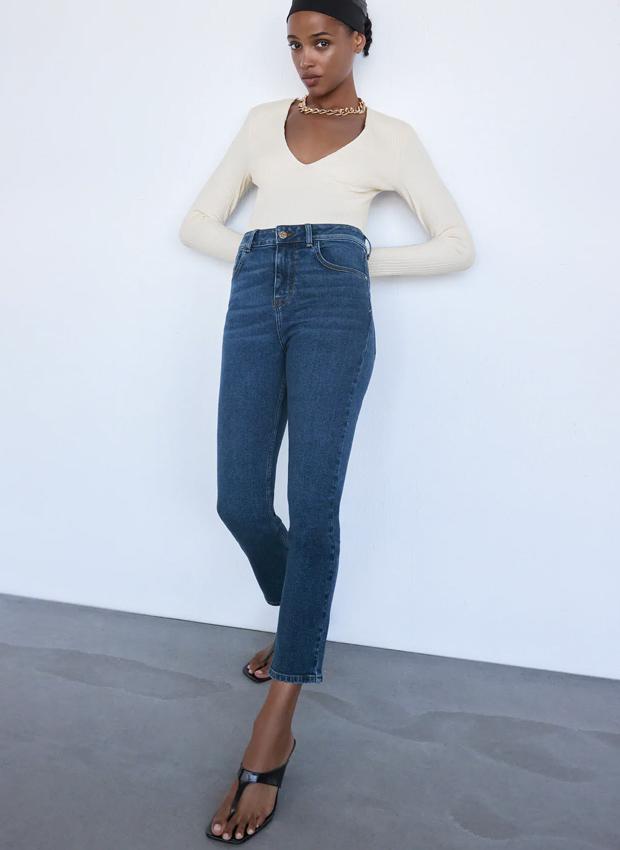 Jeans de cintura alta de Zara