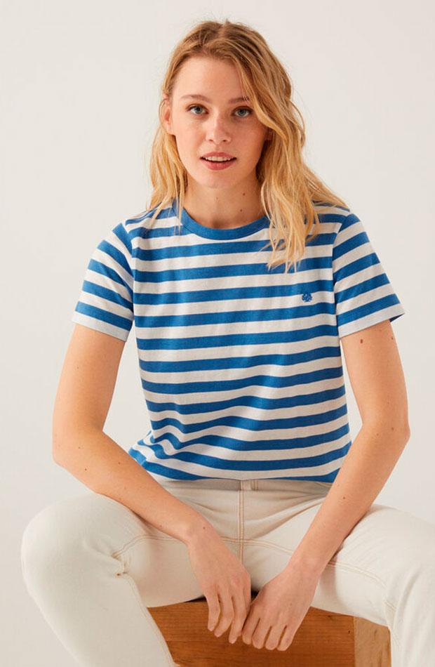 Camiseta de rayas de Springflield prendas de entretiempo
