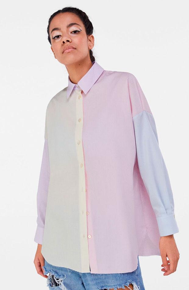 Camisa de colores pastel - Bershka prendas que nos favorecen