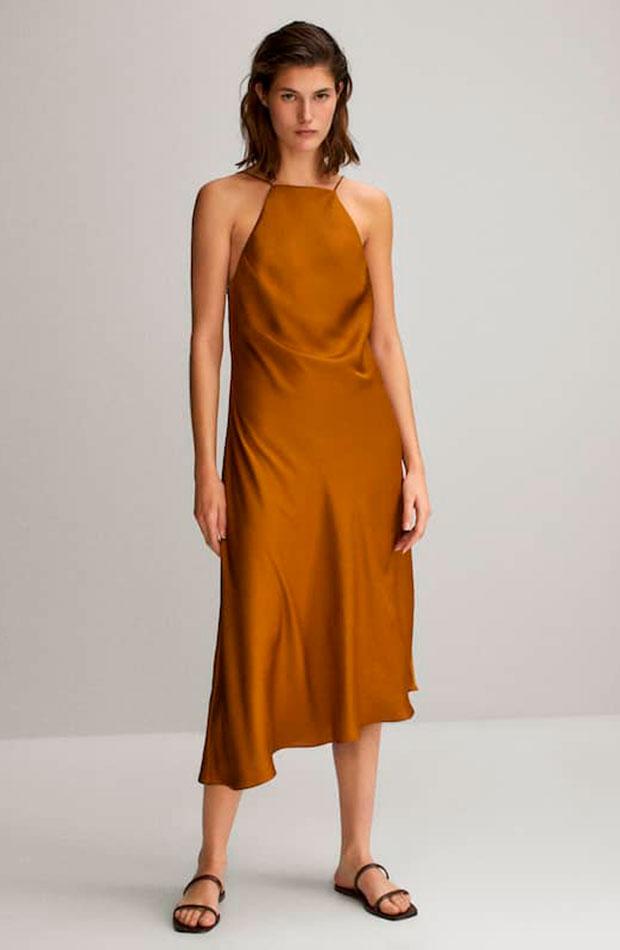 slip dress Vestido de Massimo Dutti