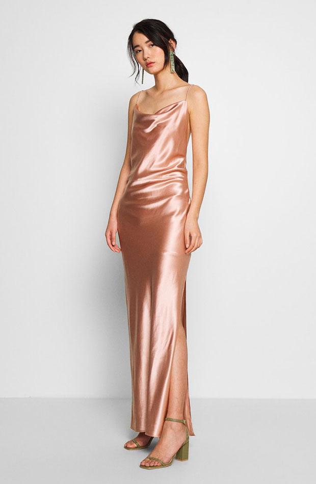 Vestido rosado de Samsoe Samsoe slip dress