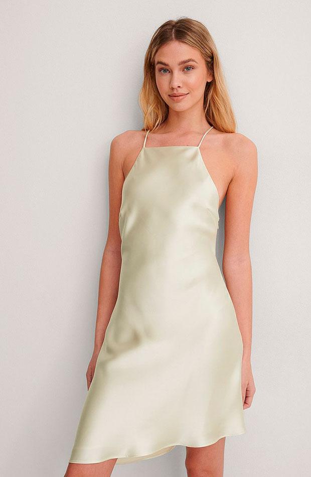 slip dress Vestido verde de Na-KD