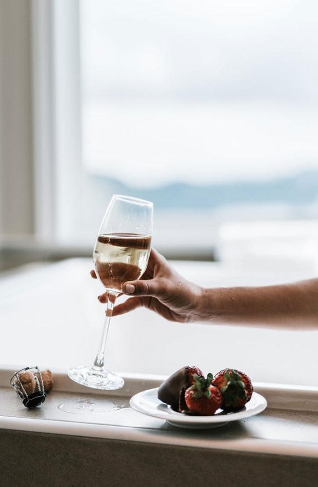 Copa de vino spa casero