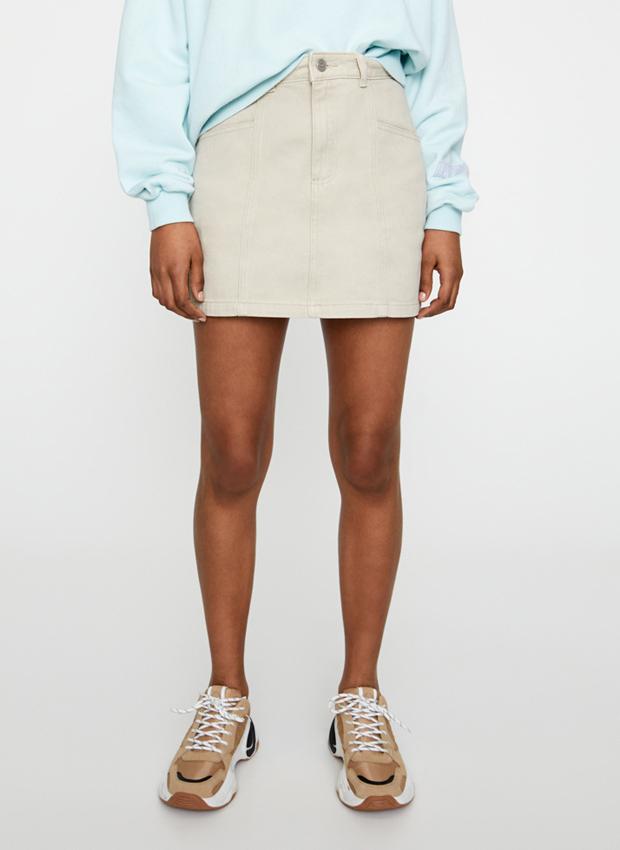 Falda sarga en tonos claros