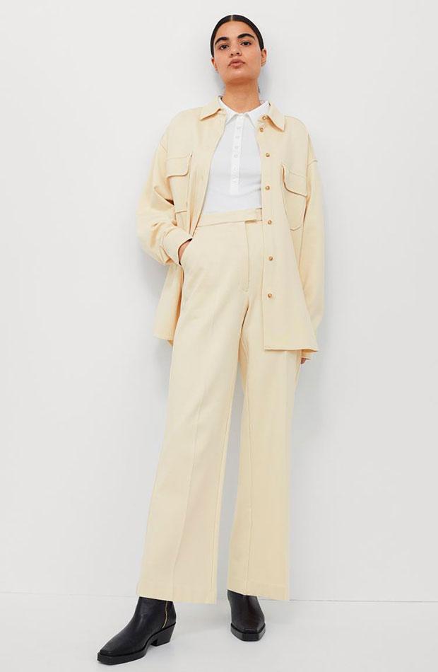 ropa para trabajar con estilo Conjunto amarillo pastel de H&M