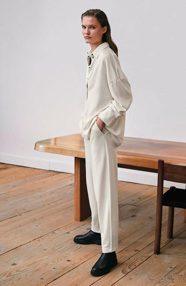 ropa para trabajar con estilo Conjunto blanco de Massimo Dutti
