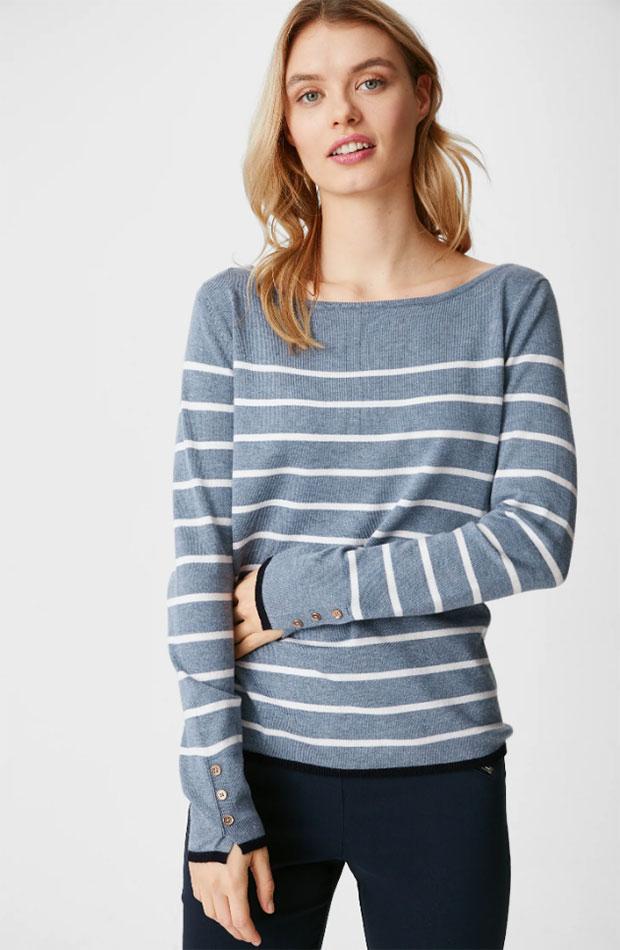 ropa para trabajar con estilo Jersey de rayas de C&A