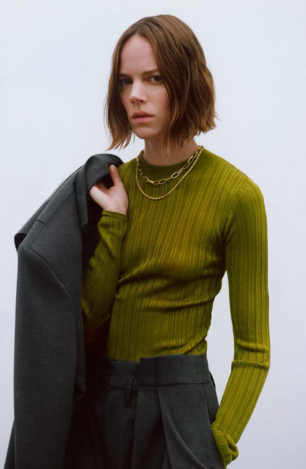 últimas rebajas de Zara Jersey verde