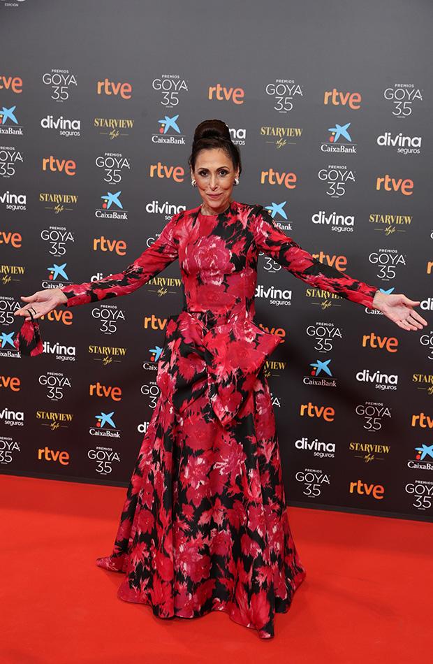 María Barranco en la alfombra roja de los Premios Goya 2021