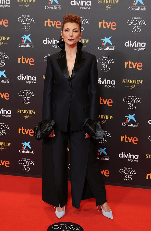 Najwa Nimri en la alfombra roja de los Premios Goya 2021