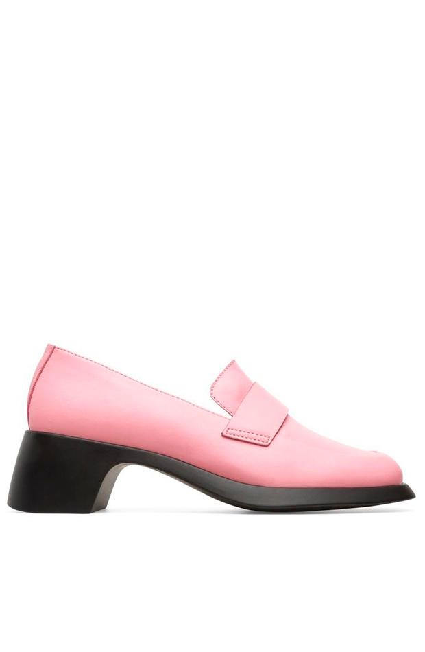 mocasines color rosa de camper