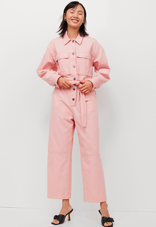 Mono boiler rosa de primavera