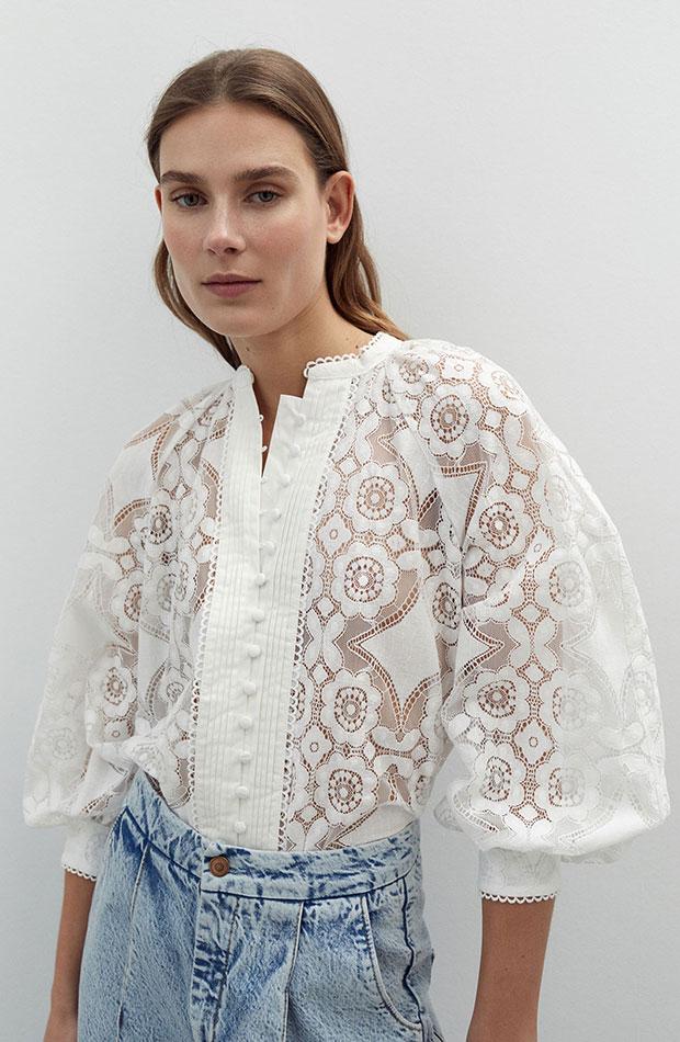 Camisa de encaje novedades de sfera