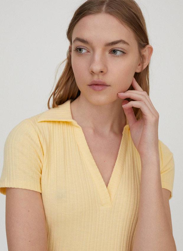 Camiseta amarilla de Pull&Bear