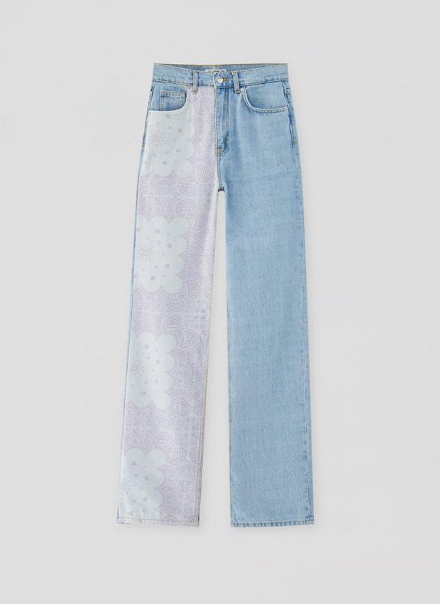 Jeans patchwork de Pull&Bear