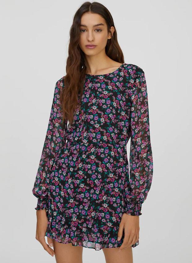 Vestido de flores de Pull&Bear