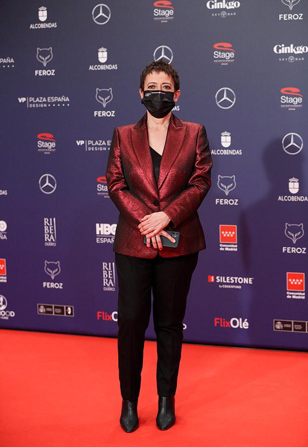 María Guerra en la alfombra roja de los Premios Feroz
